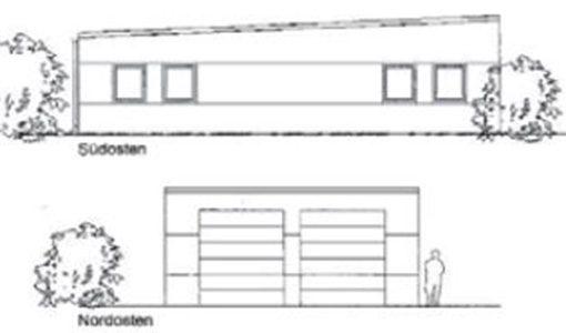 Plan Fahrzeughalle